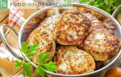 Chicken cutlets: step-by-step recipes, classic and not so. Mince options and simple step-by-step recipes for chicken cutlets