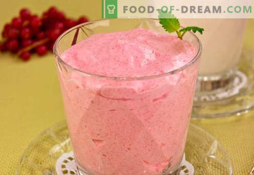 Cranberry mousse - the best recipes. How to properly and tasty cook cranberry mousse.
