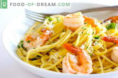 Seafood pasta - the best recipes. How to cook pasta with seafood.