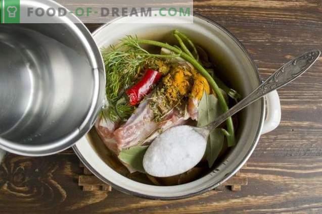 Pork brisket boiled in onion peel