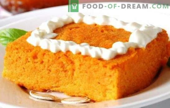 Pumpkin casserole with semolina and apples - useful! How to cook pumpkin casserole with semolina in the oven, bread maker and a slow cooker