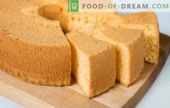 Chiffon sponge cake - tenderness itself! Recipes for different chiffon biscuits: classic, chocolate, with poppy seeds, nuts