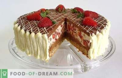 Chocolate cake with strawberries - a dream of a sweet tooth! Recipes amazing chocolate cakes with strawberries for homemade tea