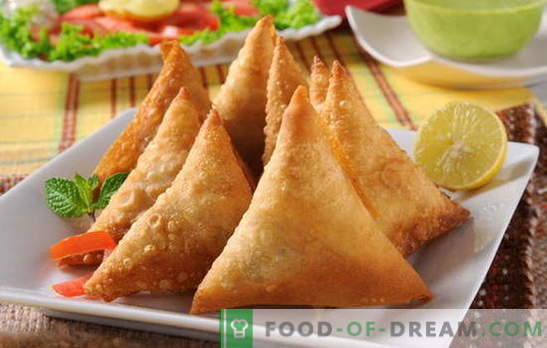 Samsa with puff pastry - a favorite of Oriental cuisine. Recipe for samsa with puff pastry meat: be patient!