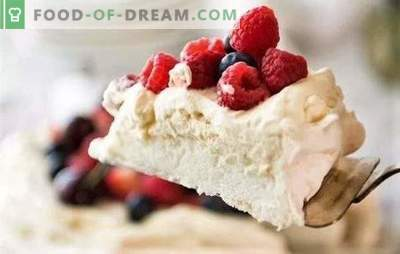 """Dessert """"Anna Pavlova"""" is tasty and simple. The best recipes for an appetizing dessert"""