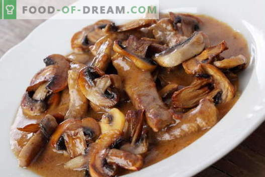 Meat with mushrooms - the best recipes. How to properly and tasty cook meat with mushrooms.
