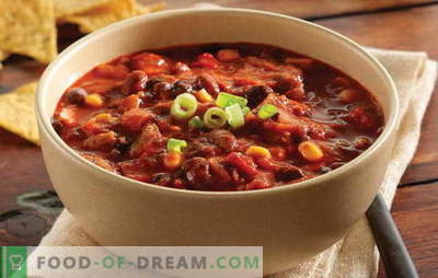 Red bean soup is a tasty, bright dish for every day. The best recipes for bean soup from red beans