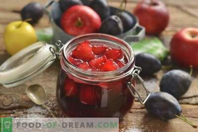 Plum jam with apples for the winter