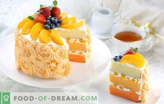 Peach cake is a sweet tooth! Recipes of different cakes with peaches for delicious joys