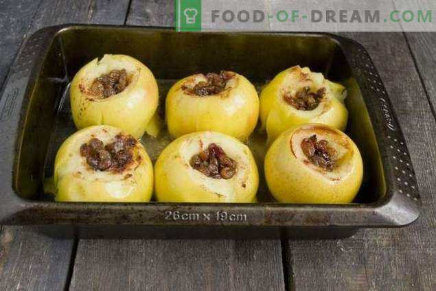 Baked apples with honey and dried fruits