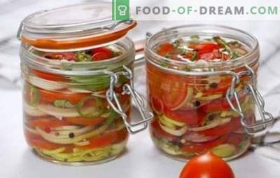 Delicious tomato salads for the winter: vitamins in jars for the whole family. The best recipes of delicious salads for the winter of tomatoes