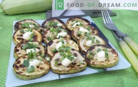 Fried zucchini: recipes for quick and tasty dishes. Recipes quick and tasty zucchini fried in batter, sour cream, breading