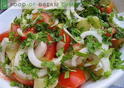 Summer salad - the best recipes. How to properly and tasty to prepare a summer salad.