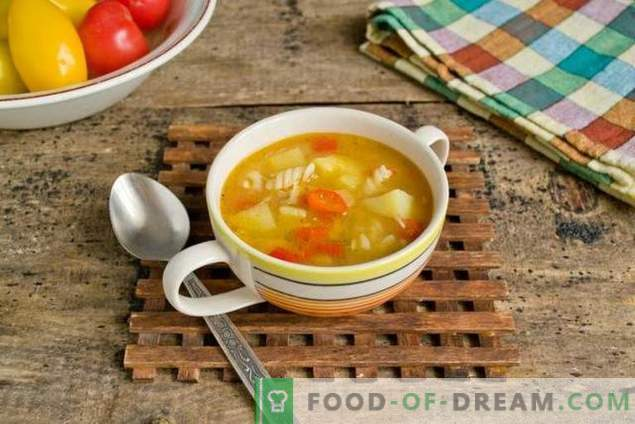 Soup with pasta and vegetables - when fast, healthy and tasty