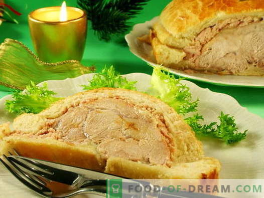 Meat baked in dough - the best recipes. How to properly and tasty cook meat baked in dough.
