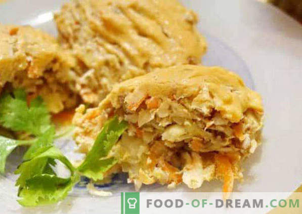 Lazy cabbage rolls with cabbage and minced meat, recipes in a saucepan, oven, in a pan
