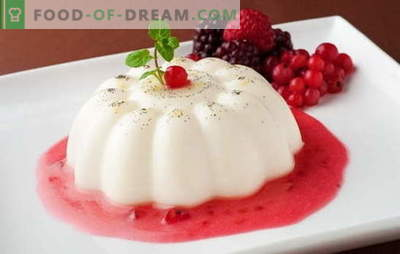 Jelly from sour cream - indulge in healthy sweets! Sour cream jelly recipes with vanilla, cocoa, fruit, curd, chocolate