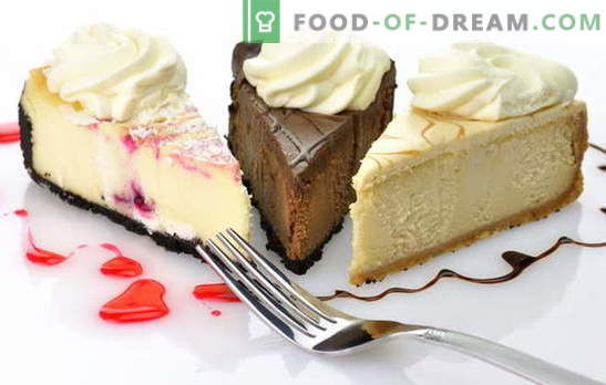 Cake cheesecake: original recipes for making a sweet dessert. Cake cheesecake with their own hands: from cookies, cream, cottage cheese, cheese