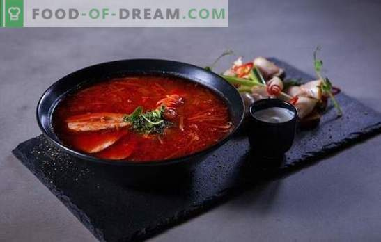 Red borsch: step by step recipes for the brightest dinner. Cooking meat and vegetarian red borscht for step-by-step recipes