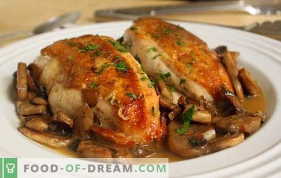 Chicken breast baked in the oven with honey, sour cream, garlic sauce. Interesting recipes for juicy chicken breast baked in the oven