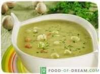 Cauliflower puree soup.