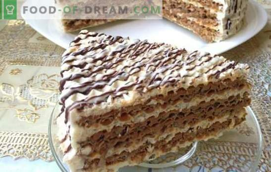 The wafer cake cake is simple and tasteful! Fast wafer cake cakes with various creams