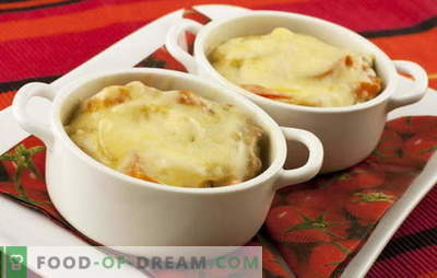 Potatoes with cheese - a magic wand. Potatoes recipes with cheese: mushrooms, vegetables, meat