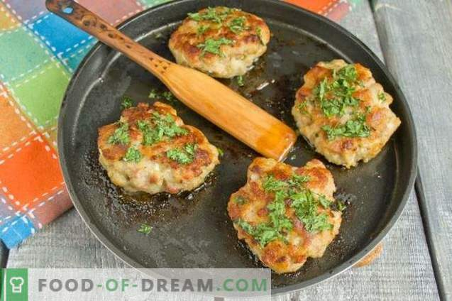 The most delicious and fast minced pork cutlets