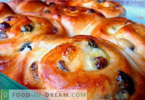 Buns with raisins are the best recipes. How to properly and tasty cook buns with raisins at home