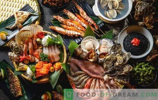 Thematic New Year's table: only fish and seafood