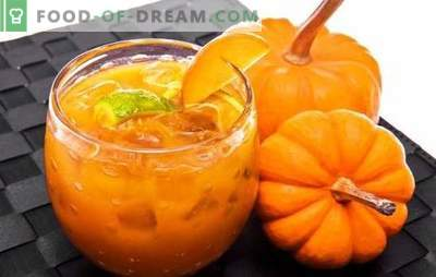 Pumpkin jam with orange is a useful delicacy. Options jam pumpkin with orange and lemon, dried apricots, sea buckthorn, nuts