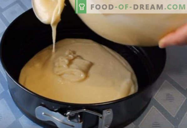 Cake Count ruins, recipes with sour cream, meringue, condensed milk, custard