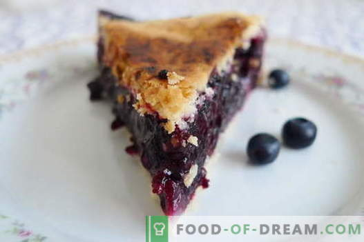 Blueberry pie - the best recipes. How to properly and tasty cook blueberry pie.