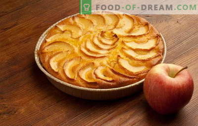 A simple and fast pie with apples, oranges, cottage cheese. The best recipes for a simple pie with apples for a quick hand