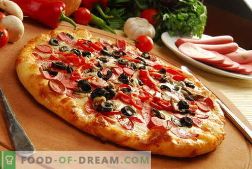Pizza dough - the best recipes. How to prepare the dough for pizza.