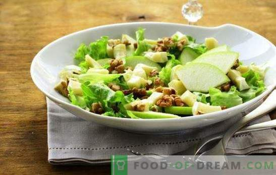 Salad with apple and cheese - with love from France! Recipes for salads with apples and cheese, carrots, chicken, crab sticks
