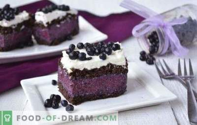 Cake with blueberries is fantastic! Recipes for different cakes with blueberries: with and without pastries, jelly, cottage cheese, chocolate