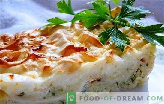 Pita with cheese pudding - homemade delicate pastries. Several ways to make pita cake with cheese