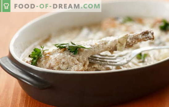 Rabbit in sour cream in the oven - delicious in any case. Recipes rabbit in sour cream in the oven with vegetables, mushrooms, cheese