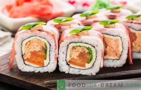 Sushi at home: step-by-step recipes and tricks. How to cook rice, fill and twist sushi at home