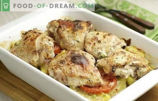 Chicken fillet with potatoes in the oven - difficult to spoil. Chicken fillet recipes with potatoes in the oven with sour cream, adjika, etc.