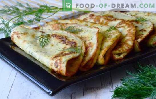 Simple recipes for delicious zucchini pancakes. How tasty and quickly cook lean and sweet pancakes from zucchini