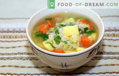 Soup with rice and potatoes: quick, tasty and healthy. Cooking soup with rice and potatoes is a simple and quick process