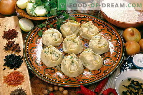 Manti with meat - the best recipes. How to properly and tasty cook manti with meat.