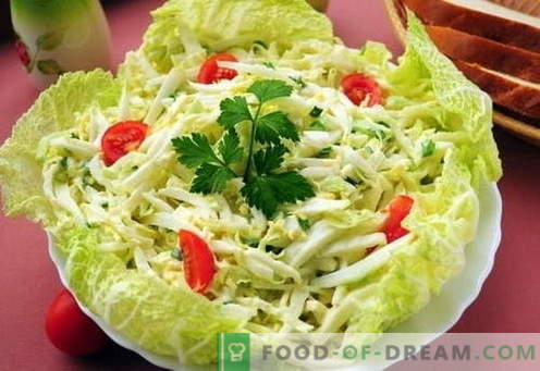 Chinese cabbage salad - the best recipes. How to properly and tasty cooked Chinese cabbage salad.