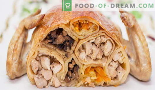 Stuffed chicken - the best recipes. How to cook stuffed chicken in the oven.