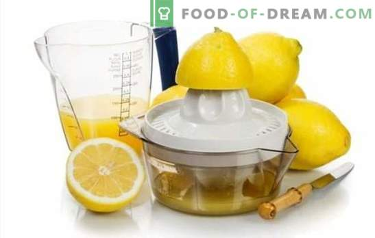 Making lemon juice - recipes with a divine flavor! Lemon juice: recipes of alcoholic and non-alcoholic beverages with it