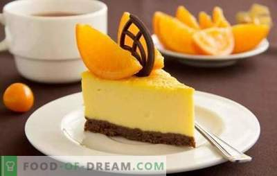 Citrus dessert - for a good mood! Cooking amazing citrus desserts with gelatin, cottage cheese, baking