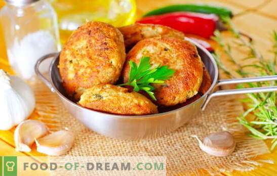 Pink salmon cutlets are a masterpiece for fish lovers. Recipes for pink salmon meatballs with cheese, rice, cottage cheese, squid and greens