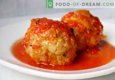 Minced meatballs - proven recipes. How to properly and tasty cooked meatballs from minced meat.